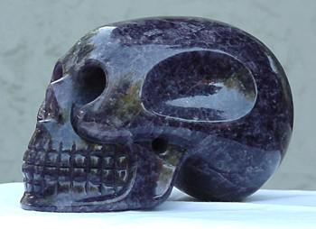 "The ancient crystal skull known as ""Ami"", made from amethyst quartz, photo gifted to us by Al Ramirez"