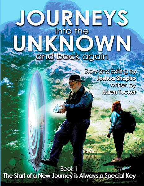 Front Cover to our Novel, Journey into the Unknown and Back Again, Book #1